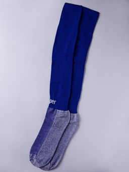 Meia-de-Futebol-Masculina-Topper-Boleiro-Azul-branco
