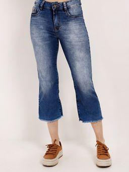 Calca-Pantacourt-Jeans-Feminina-Amuage-Azul-38