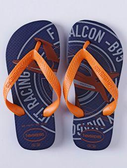 Chinelo-Havaianas-Kids-Athletics-Infantil-para-Menino---Azul-Marinho-laranja