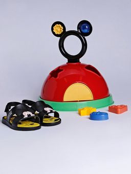 Sandalia-Mickey-Mouse-Diversao-Infantil-para-Menino---Preto-amarelo