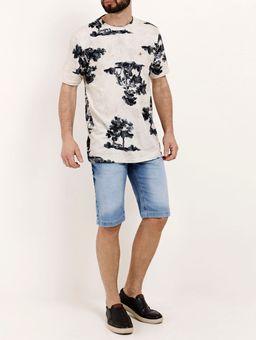 Camiseta-Manga-Curta-Masculina-Bege-azul-P