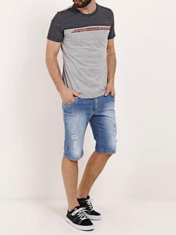 Camiseta-Manga-Curta-Masculina-Chumbo-vermelho-P