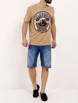 Camiseta-Manga-Curta-Masculina-Caramelo