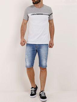 Camiseta-Manga-Curta-Masculina-Cinza-branco-P