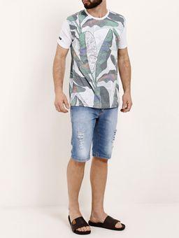 Camiseta-Manga-Curta-Masculina-Gangster-Verde-P