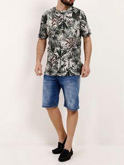 Camiseta-Manga-Curta-Masculina-Bege-verde-P