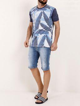 Camiseta-Manga-Curta-Masculina-Gangster-Azul-P