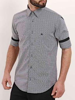 Camisa-Manga-3-4-Masculina-Cinza-preto-P