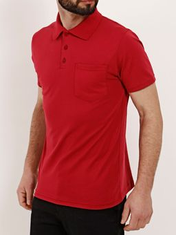 Polo-Manga-Curta-Masculina-Vermelho-P