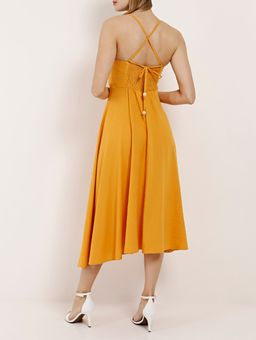 Vestido-Linho-Midi-Feminino-Autentique-Amarelo