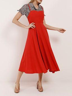 Vestido-Linho-Midi-Feminino-Autentique-Vermelho