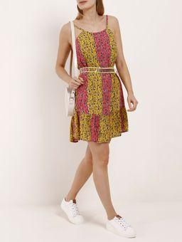 Vestido-Curto-Feminino-Autentique-Rosa-amarelo-P