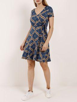 Vestido-Curto-Feminino-Azul-P