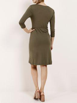 Vestido-Manga-3-4-Feminino-Verde-P