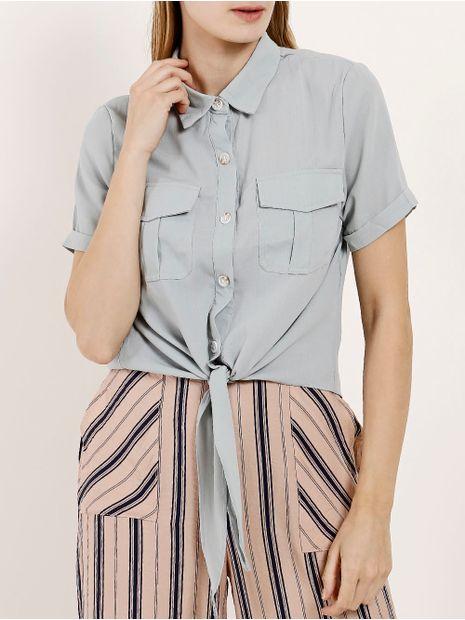 Camisa-Manga-Curta-Feminina-Azul-P