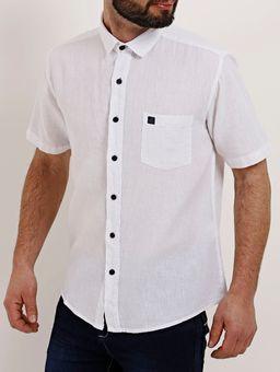 Camisa-Linho-Slim-Fit-Manga-Curta-Masculina-Branco