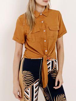 Camisa-Manga-Curta-Feminina-Caramelo-P