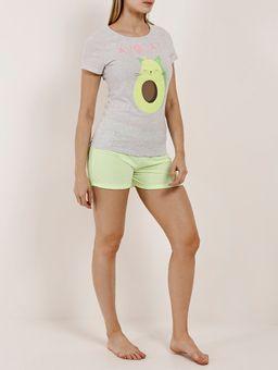 Pijama-Curto-Feminino-Cinza-verde-P