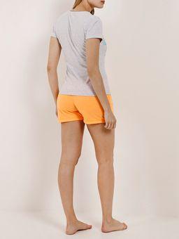 Pijama-Curto-Feminino-Cinza-laranja-P