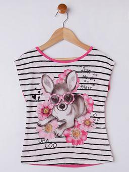 Blusa-Manga-Curta-Infantil-Para-Menina---Branco-rosa-6