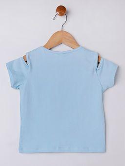 Blusa-Manga-Curta-Infantil-Para-Menina---Azul-1