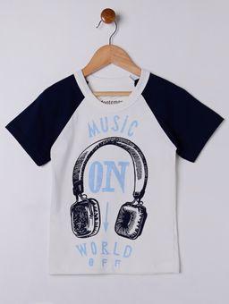 Camiseta-Manga-Curta-Infantil-Para-Menino---Bege-azul-6