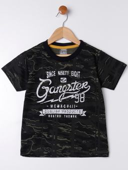 Camiseta-Manga-Curta-Gangster-Infantil-Para-Menino---Preto-verde-6