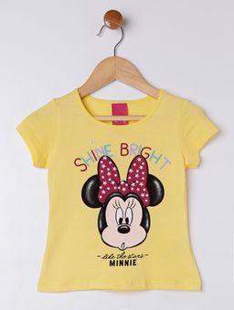Blusa-Manga-Curta-Disney-Infantil-Para-Menina---Amarelo-1