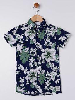 Camisa-Manga-Curta-Infantil-Para-Menino---Azul-Marinho-verde-6