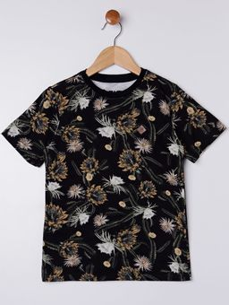 Camiseta-Manga-Curta-Infantil-Para-Menino---Preto-amarelo-6