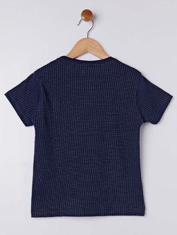 Camiseta-Manga-Curta-Gangster-Infantil-Para-Menino---Azul-Marinho-6