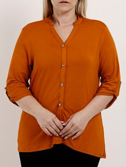Camisa-Manga-3-4-Plus-Size-Feminina-Autentique-Caramelo-G2