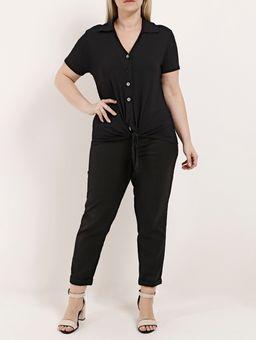 Camisa-Manga-Curta-Plus-Size-Feminina-Autentique-Preto-G2