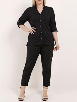Camisa-Manga-3-4-Plus-Size-Feminina-Autentique-Preto-G2