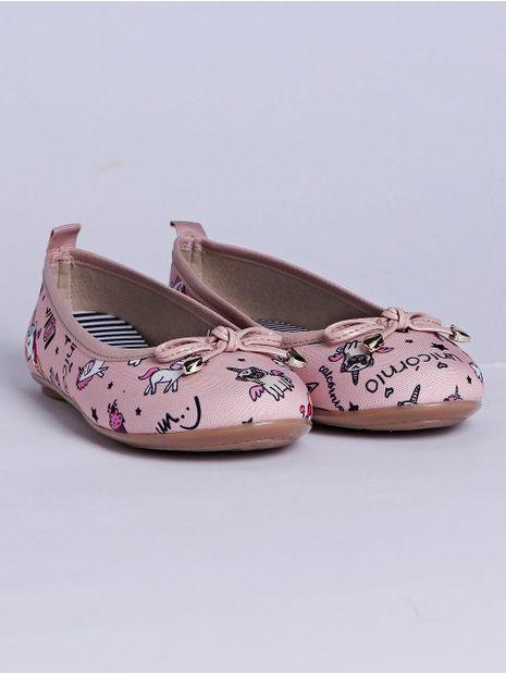 Sapatilha-Molekinha-Unicornio-Infantil-para-Menina---Rosa-multicolorido