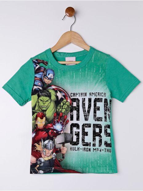 Camiseta-Manga-Curta-Avengers-Infantil-Para-Menino---Verde-6