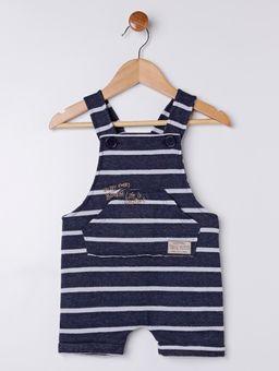 Macacao-Jardineira-Moletom-Infantil-para-Bebe-Menino---Azul-Marinho