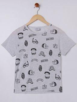 Pijama-Curto-Juvenil-Para-Menino---Cinza-preto-10