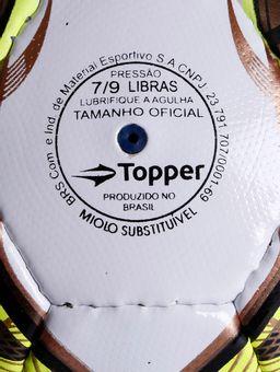 Bola-de-Futsal-Topper-Slick-Branco-amarelo