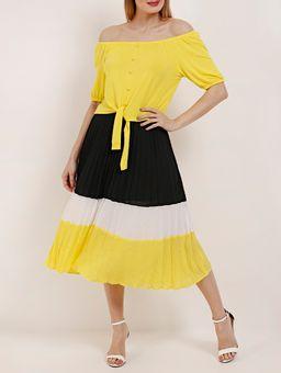 Z-\Ecommerce\ECOMM\FINALIZADAS\Feminino\115027-saia-media-mal-tec-plano-autentique-plissada-bicolor-preto-amarelo