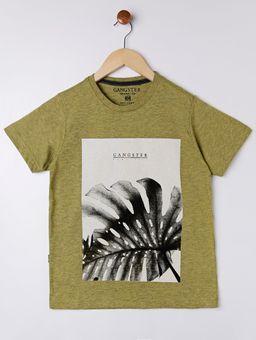 Camiseta-Manga-Curta-Gangster-Juvenil-Para-Menino---Verde-16