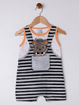 Macacao-Infantil-Para-Bebe-Menino---Cinza-laranja-P