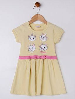 Vestido-Disney-Infantil-Para-Menina---Amarelo-1