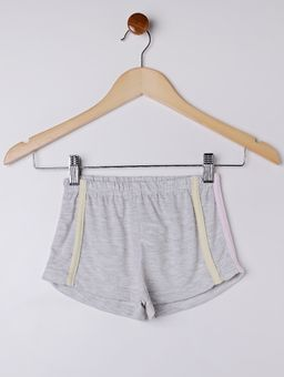 -Pijama-Curto-Infantil-Para-Menina---Cinza-6