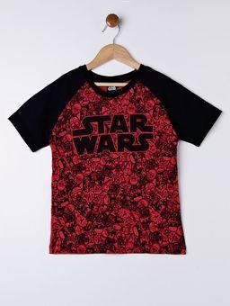 Camiseta-Manga-Curta-Star-Wars-Infantil-Para-Menino---Preto-vermelho-6