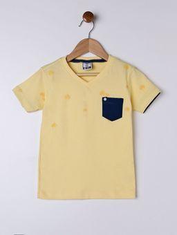 Camiseta-Manga-Curta-Infantil-Para-Menino---Amarelo-1