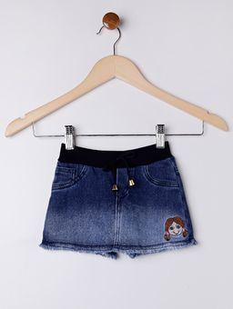 Short-Saia-Jeans-Infantil-Para-Menina---Azul-1