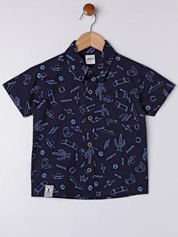 Camisa-Manga-Curta-Infantil-Para-Menino---Azul-Marinho-1