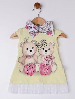 Conjunto-Infantil-para-Bebe-Menina---Amarelo-branco