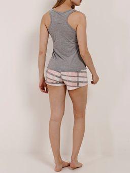 Pijama-Curto-Feminino-Cinza-salmao-P